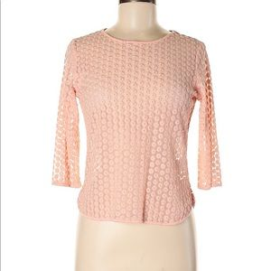 TOPSHOP WOMEN'S SIZE 6 SHEER PINK BLOUSE